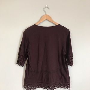 Anthropologie Tops - Akemi + Kin Anthro Lace Detail shirt! Size M!